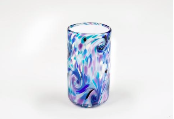 blue-violet wedding glass